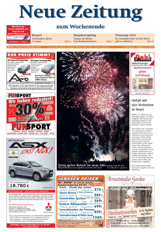 Neue Zeitung Ausgabe Nord Kw52 2011 By Gerhard Verlag Gmbh Issuu