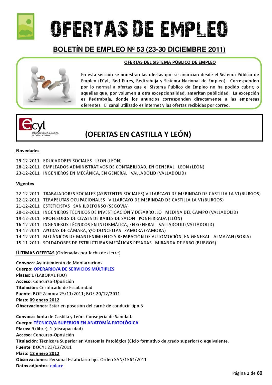 BOLETIN DE EMPLEO Nº 53 by AEDL MIC - issuu