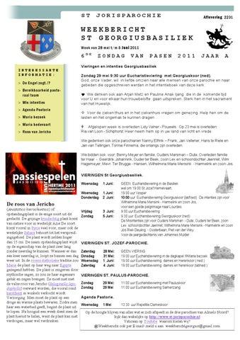 Weekbericht st Jorisparochie jaar 2011 no 2231 Zesde zondag jaar A 2011 880bbdd423