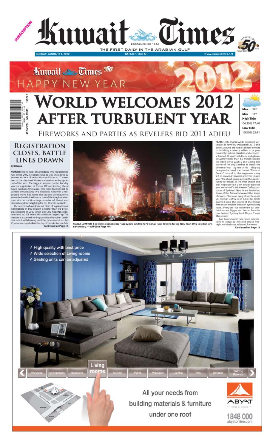 1st Jan 2012 by Kuwait Times - issuu