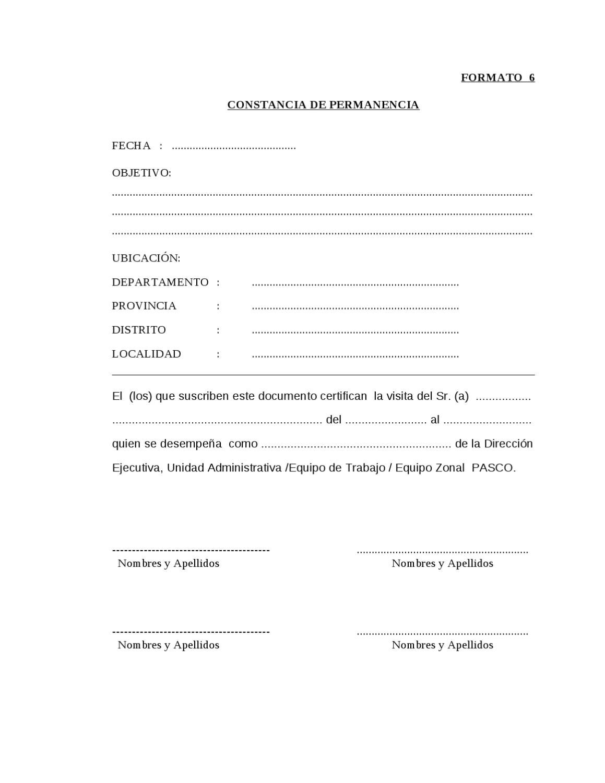Formato 6 Constancia De Permanencia By Josev Camarena Issuu