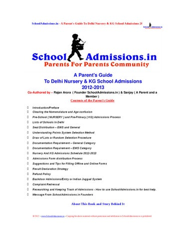 A ParentS Guide To Delhi Nursery  Kg School Admissions