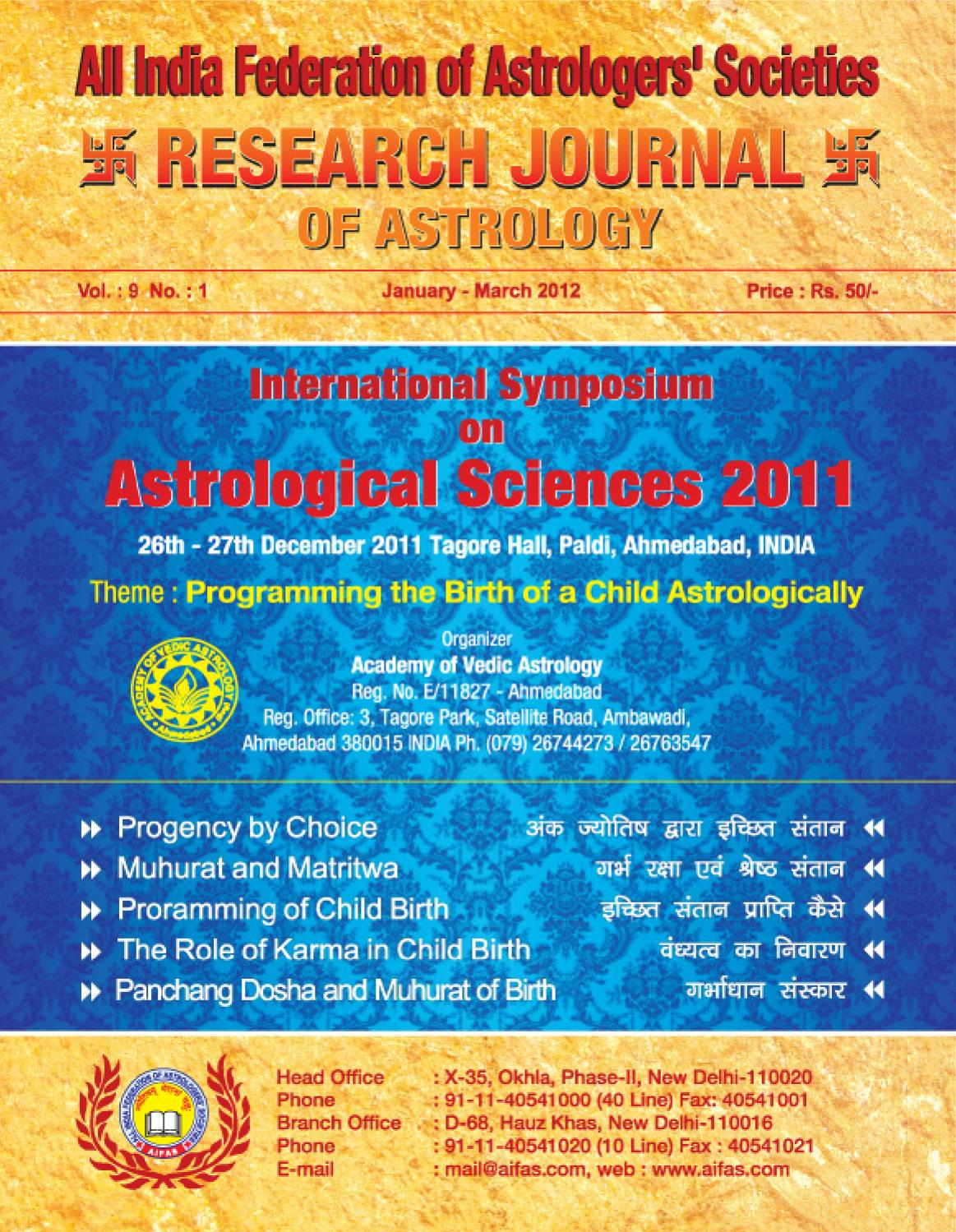 Research Journal Jan-March 2012 by Future Samachar - issuu