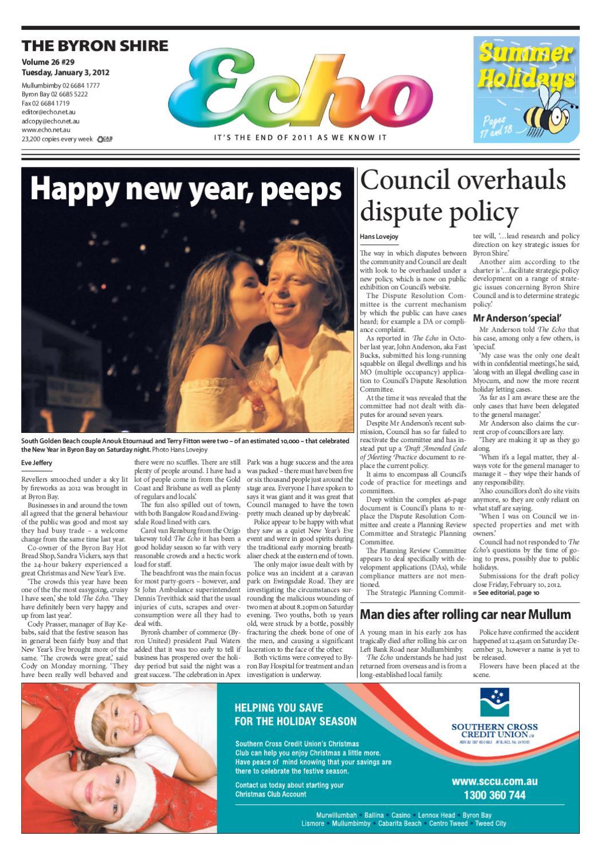 Byron Shire Echo – Issue 26 29 – 03 01 2012 by Echo Publications issuu