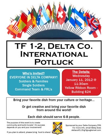 D Co International Food Potluck by miles riggs issuu
