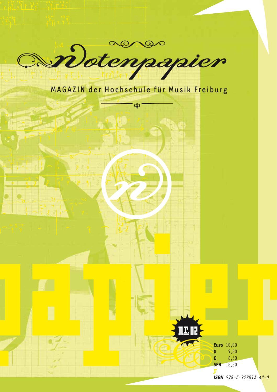 NOTENPAPIER 2 by Büro MAGENTA – Gestaltung und Werbung - issuu