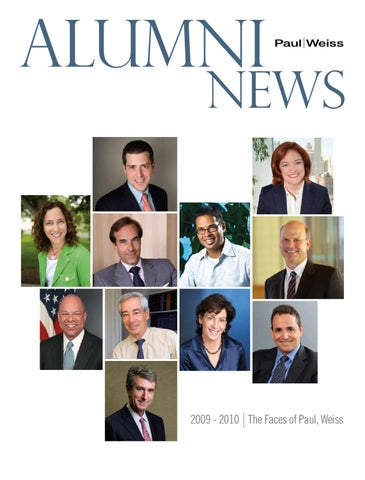Paul Weiss Alumni News 2010 by carol kincaid - issuu