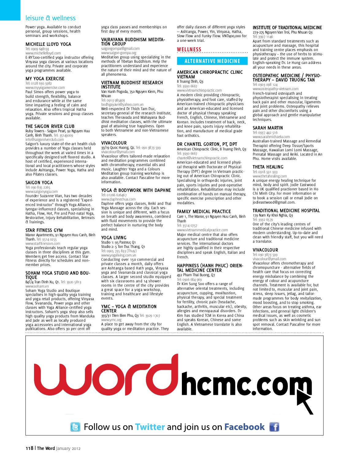 The Word Ho Chi Minh City January 2012 by Word Vietnam - issuu