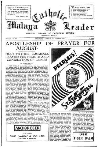 AUGUST 17 1935 VOL 01 N0 33 by CatholicNews issuu