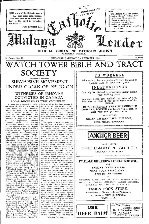 DECEMBER 07, 1935, VOL 01, N0 49 by CatholicNews - issuu
