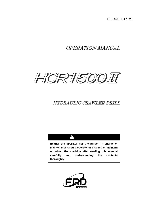 Manual Operacional Hcr 1500 By Cvc Maquinarias Issuu