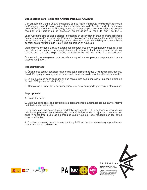 Único Curriculum Vitae De Propuesta De Viaje De Campo Regalo ...
