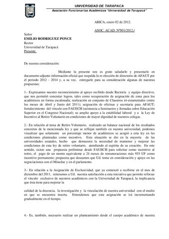 Carta solicitud a rector 02 01 12 by afaut issuu page 1 altavistaventures Gallery