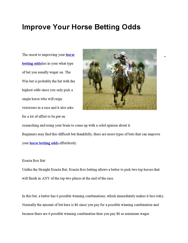 Should you bet show on low odds horses mechelen vs genk betting expert nfl