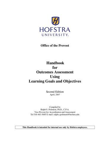 the student assessment handbook