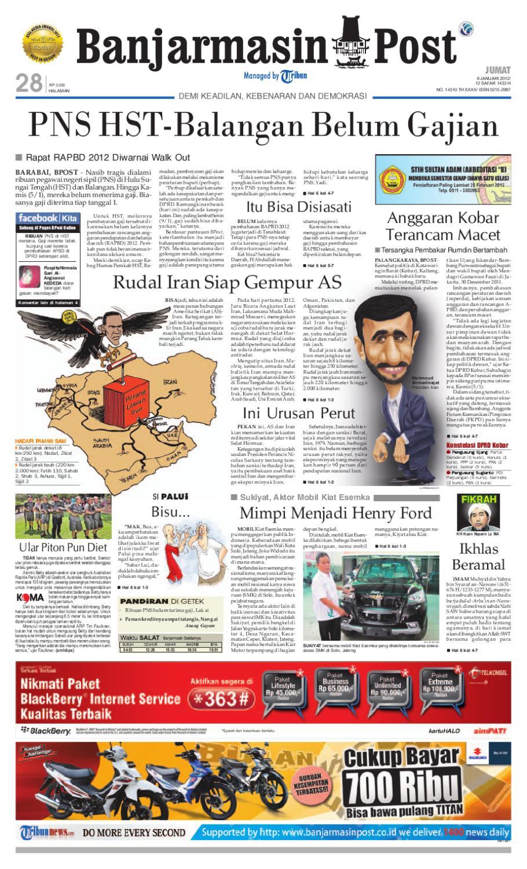 Banjarmasin Post Edisi Jumat 6 Januari 2012 By Issuu Kartu Kemat Listrik