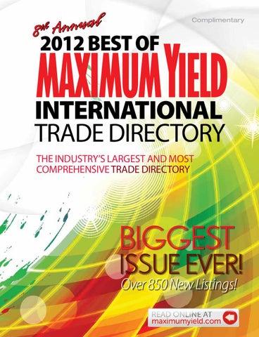 24c239aded52 Maximum Yield Best of Directory 2012 by Maximum Yield - issuu