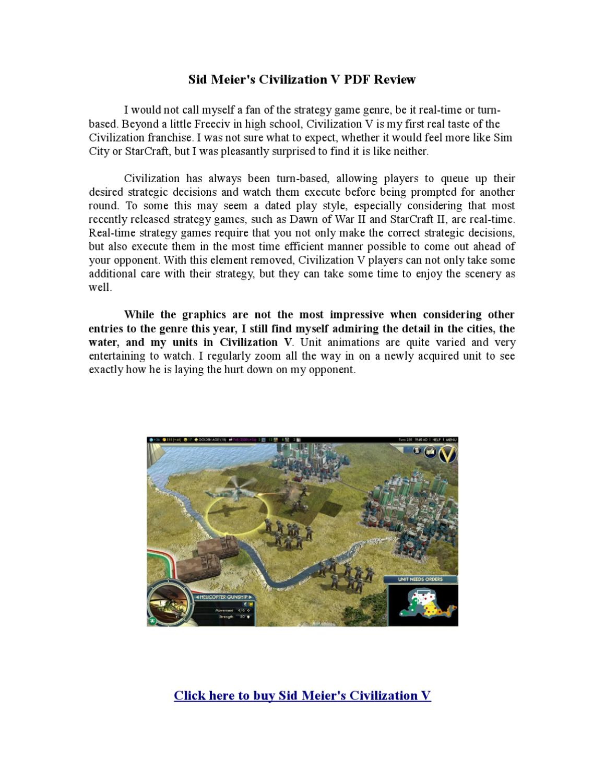 Sid Meier's Civilization V PDF Review by Branko Zecevic - issuu