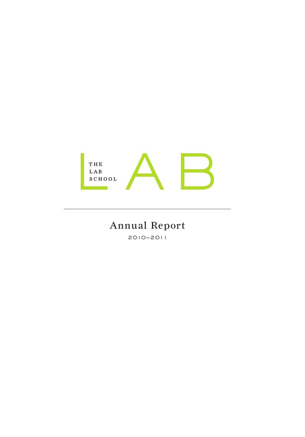 Lab School Annual Report 2010-2011 by The Lab School of