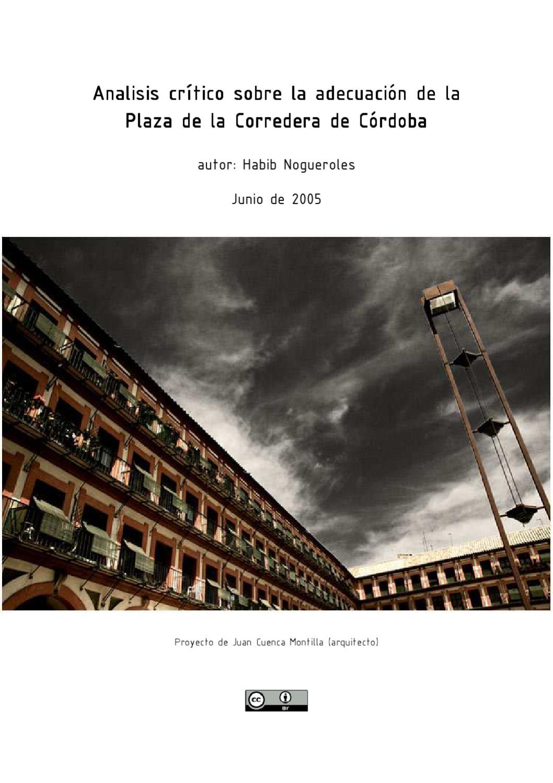 Analisis crítico sobre la adecuación de la Plaza de la Corredera de ...