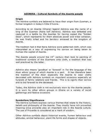 Adinkra Symbols Funeral Arts In Ghana By Prekese Ghanamedia Issuu