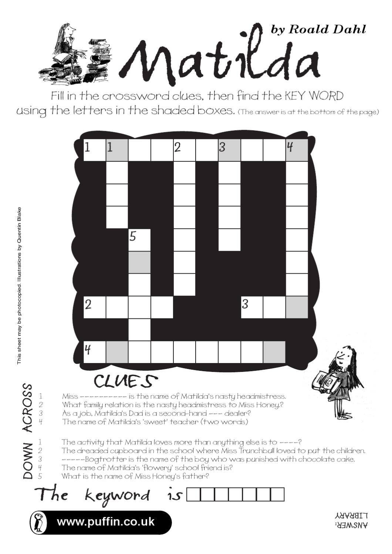 matilda crossword by fryni marvel