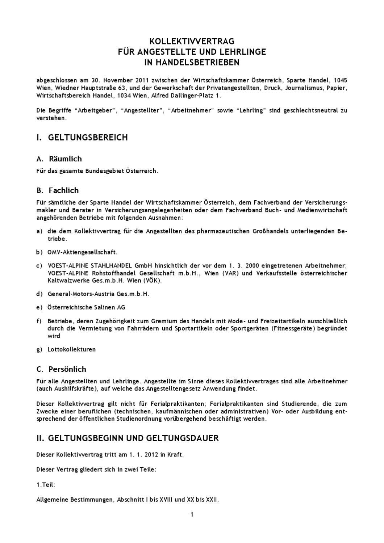 Kollektivvertrag Fur Angestellte Und Lehrlingein Handelsbetriebe By Pv Interaktiv Issuu