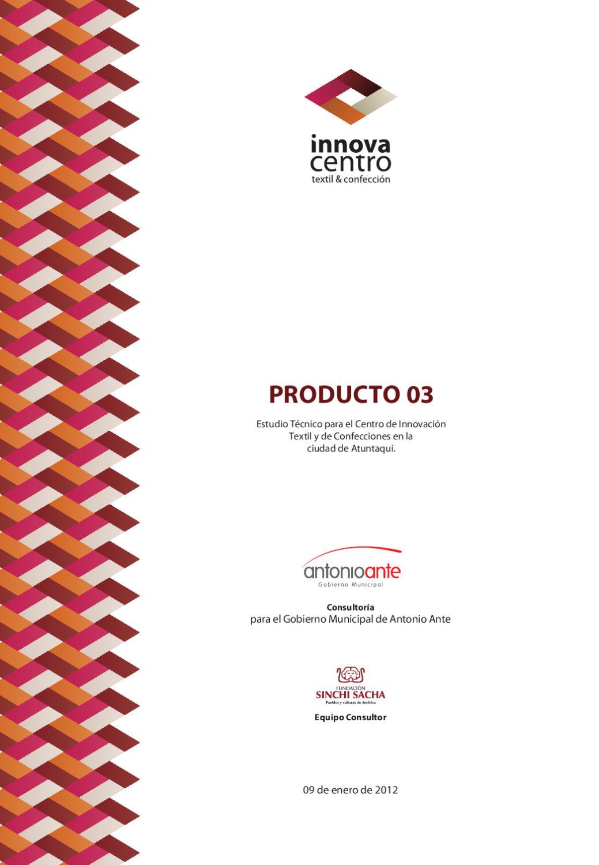 Producto 03 - Innovacentro Textil y de Confección by Nathaly Pinto ...
