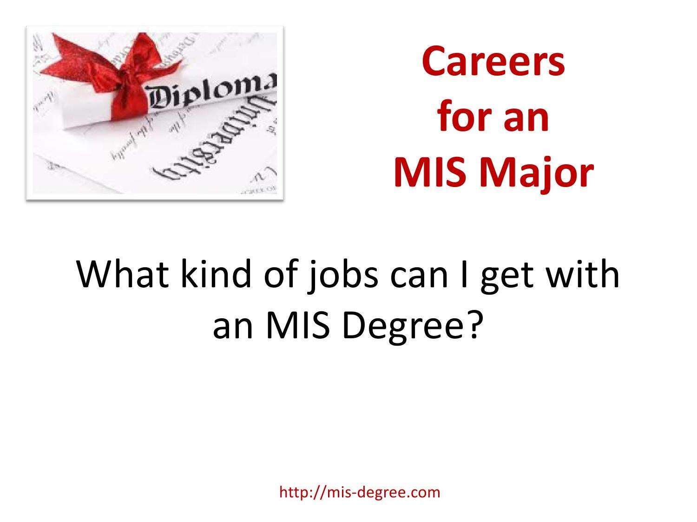 MIS Degree Careers by Ssol Oln - issuu