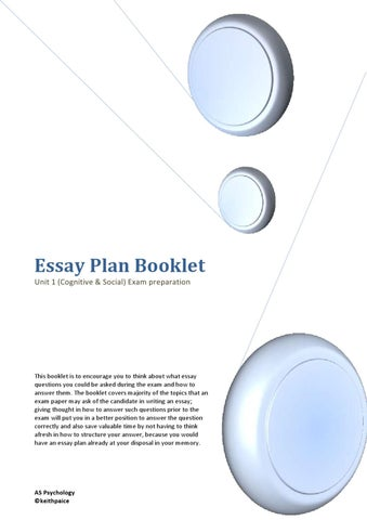 Persuasive Essay Samples High School Essay Plan Booklet Unit  Cognitive  Social Exam Preparation Topic English Essay also Argumentative Essay Sample High School Cognitive  Social Psychology Essay Plan By Keith Paice  Issuu Business Etiquette Essay