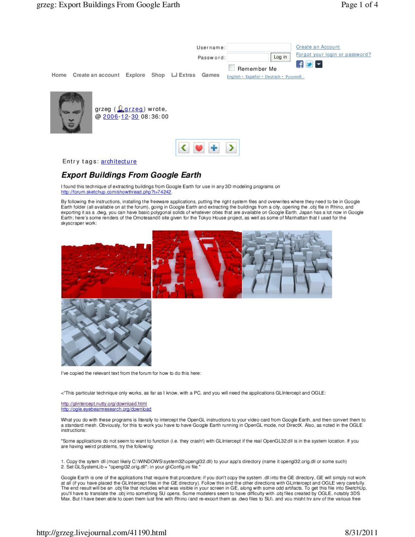 Import Google Earth Model into Rhino by Cho Chung Man - issuu