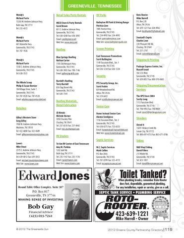 Greene County Partnership 2012 Membership Directory By The