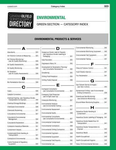 Environmental Section - Service and Supply by JWN | Trusted energy