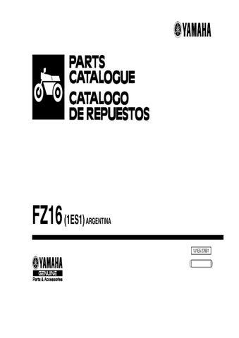 manual despiece yamaha fz 16 1es1 2010 argentina by fernando rh issuu com yamaha fzs waverunner service manual yamaha fz 09 manual