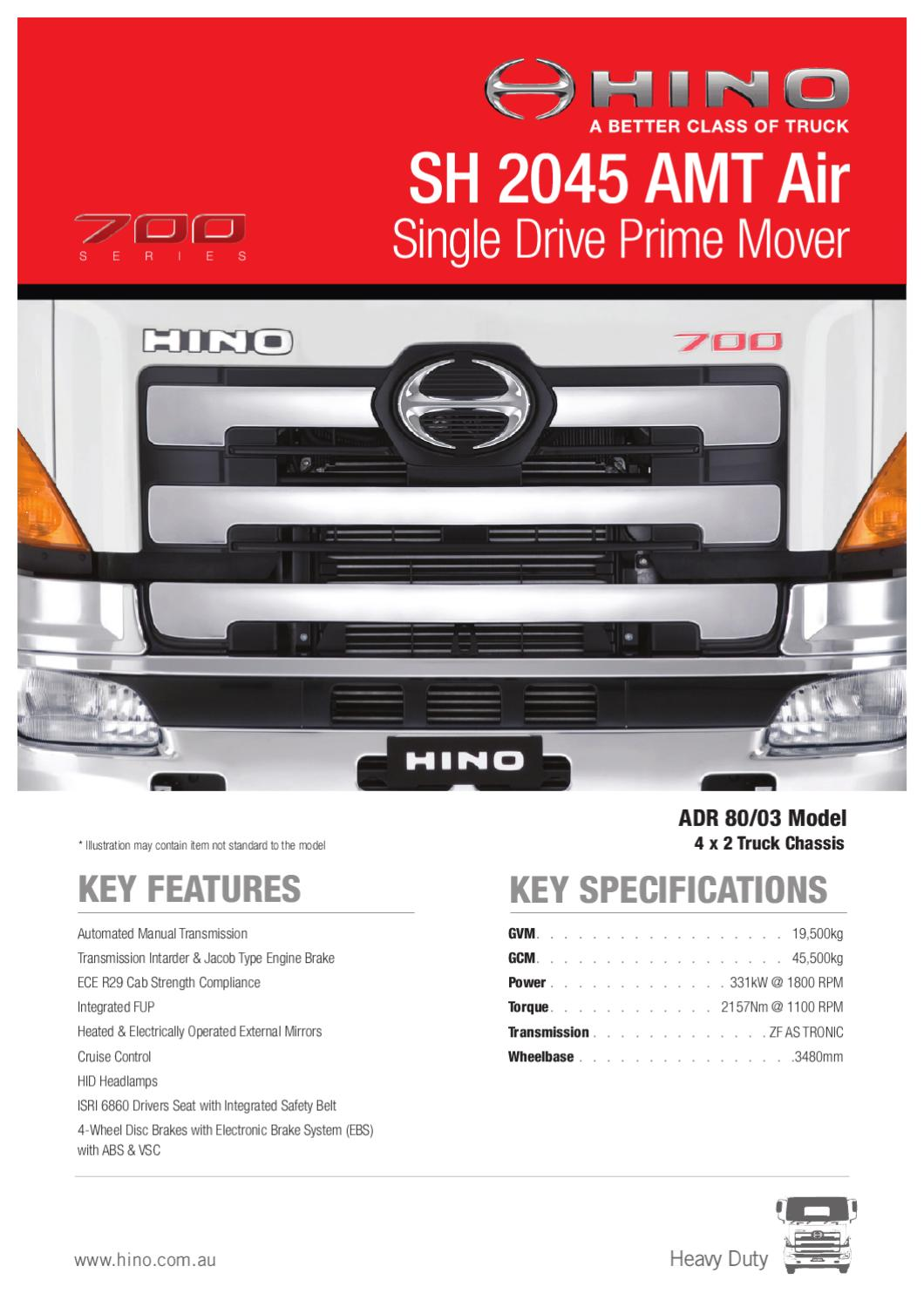 Hino 700 Wiring Diagram Trusted Schematics Truck Series Sh 2045 Amt Air Spec Sheet By Justin Edwards Issuu Engine Diagrams