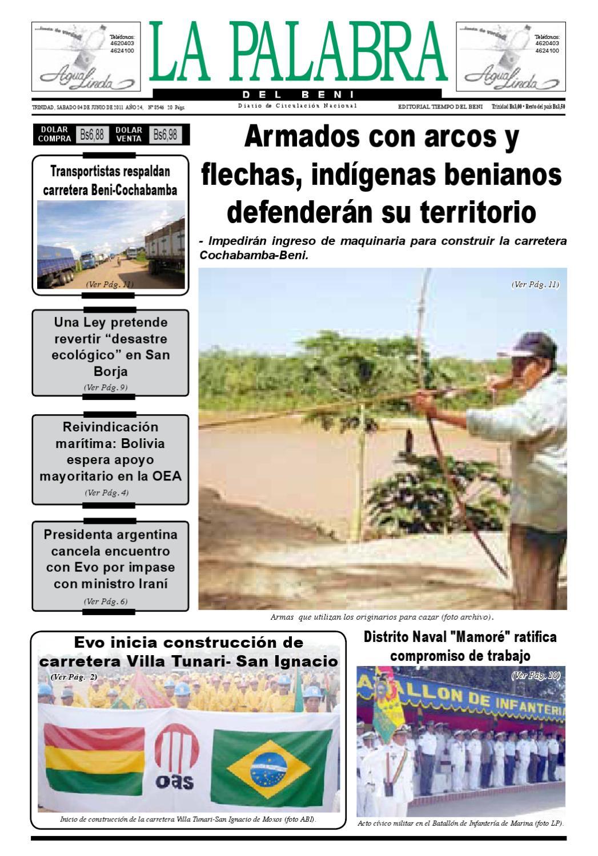 La Palabra Del Beni 04 De Junio De 2011 By La Palabra Del Beni  # Muebles Tati Cochabamba