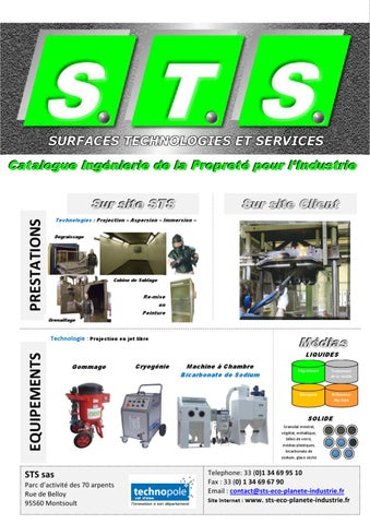CATALOGUE STS INGENIERIE DE LA PROPRETE POUR L INDUSTRIE by STS - issuu bbef7b97638e
