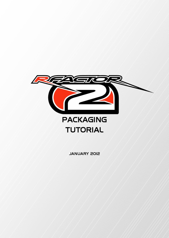 Rfactor 2 packaging tutorial by F1 Fullsim - issuu