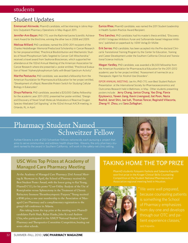 USC Pharmacy Magazine Summer/Fall 2011
