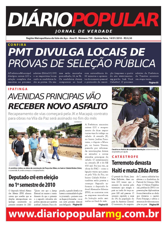 8f5c5798a14 14-01-2010 by Jornal Diário Popular - issuu