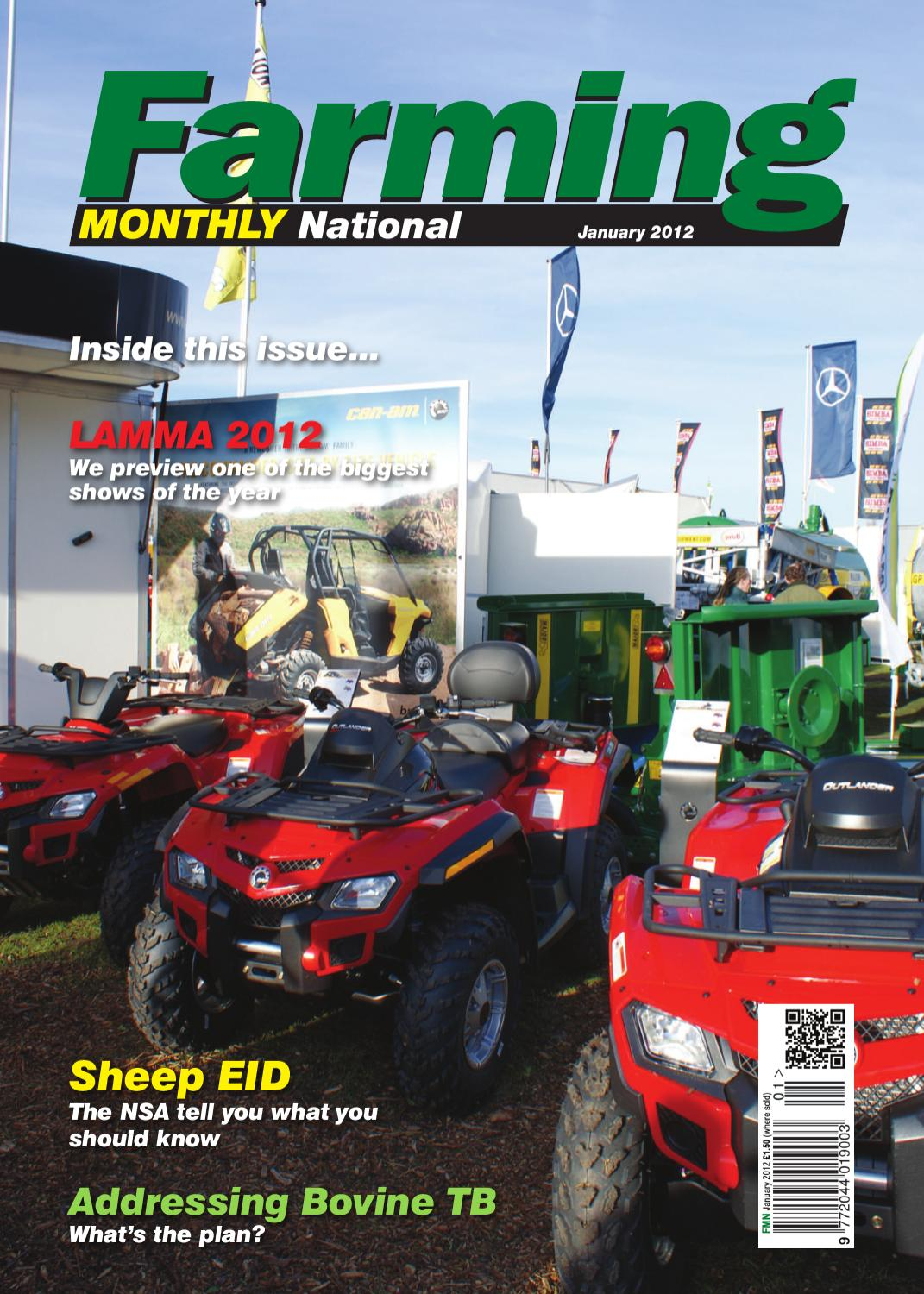 January 2012 Farming Monthly National by Farming Monthly Ltd