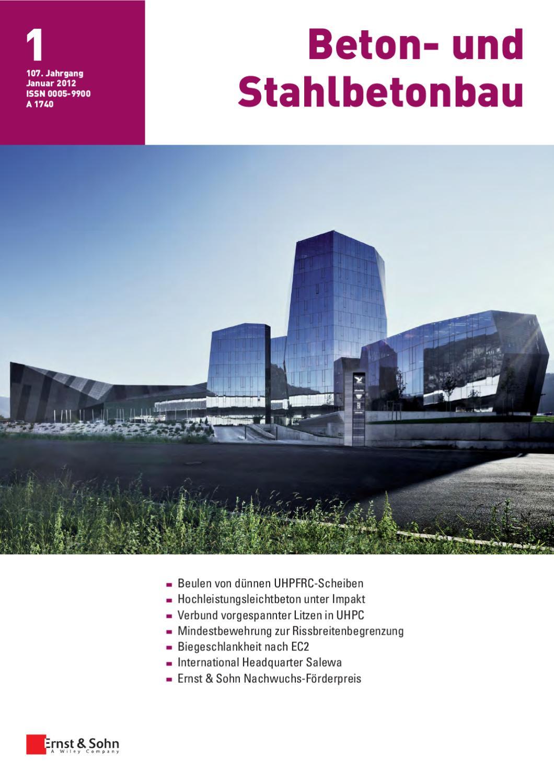 Sichtbeton Verkleidung beton und stahlbetonbau 01 2012 free sle copy by ernst sohn