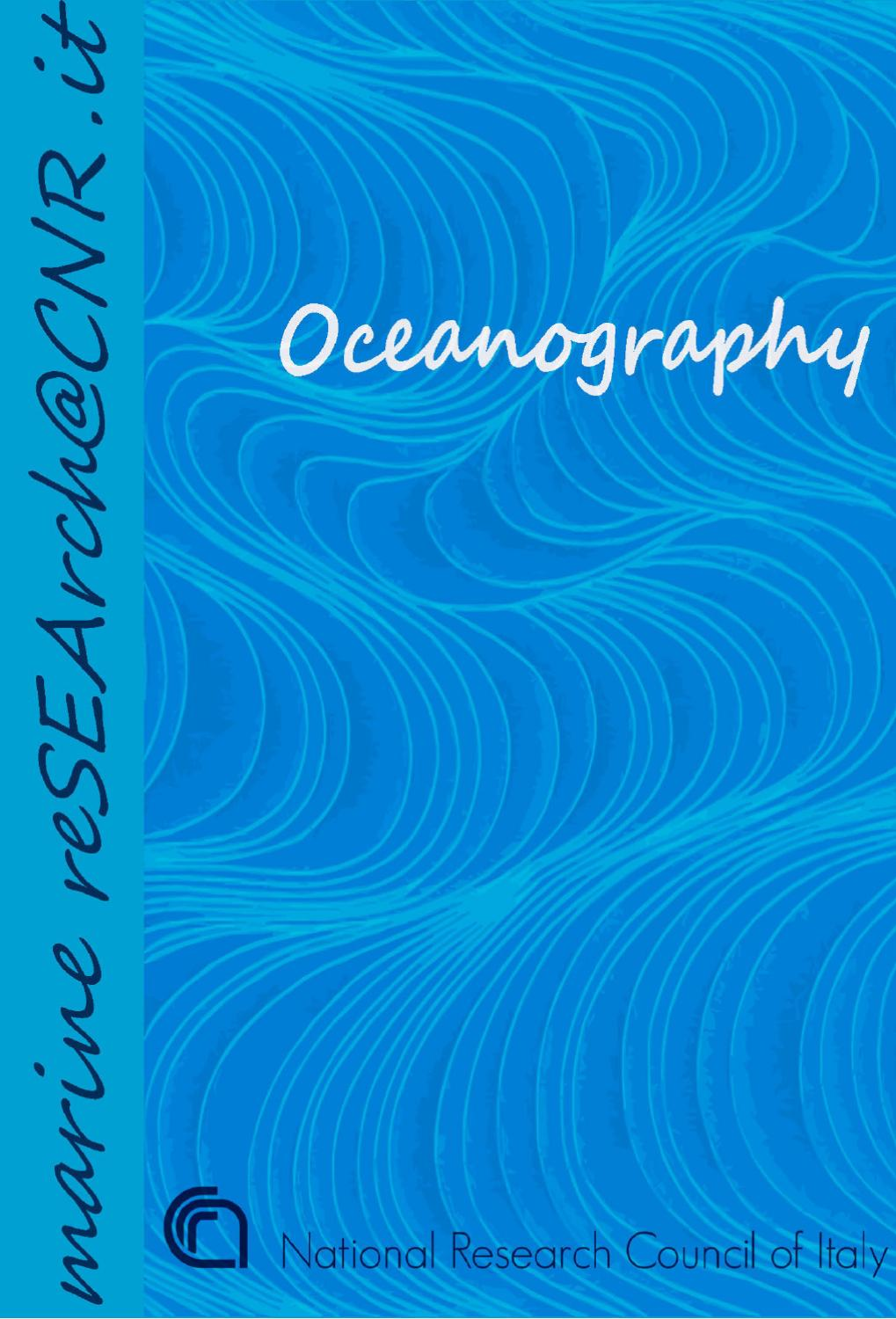 Oceanography By Cnr Dipartimento Scienze Del Sistema Terra E Diagram Electronic Canary Also Iso Din Connector Wiring Tecnologie Per Lambiente Issuu