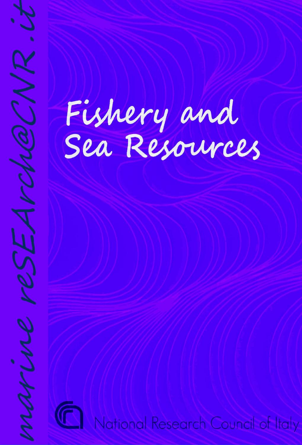 Fishery and Sea Resources by CNR - Dipartimento Scienze del Sistema