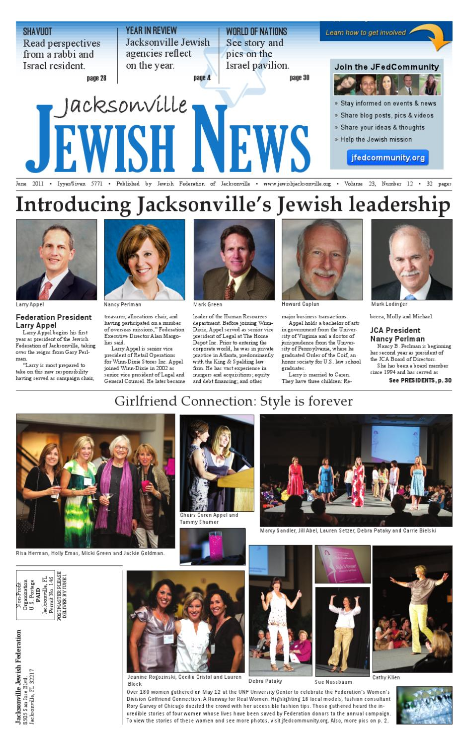 Jacksonville jewish news june 2011 by jewish jacksonville for Michaels crafts jacksonville fl