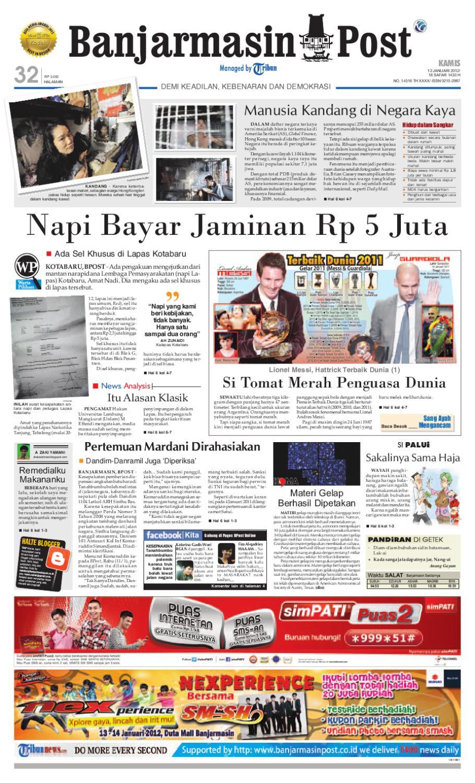 Banjarmasin Post Edisi Kamis 12 Januari 2012 By Parcel Makanan Ampamp Keramik Pja 1608 Issuu