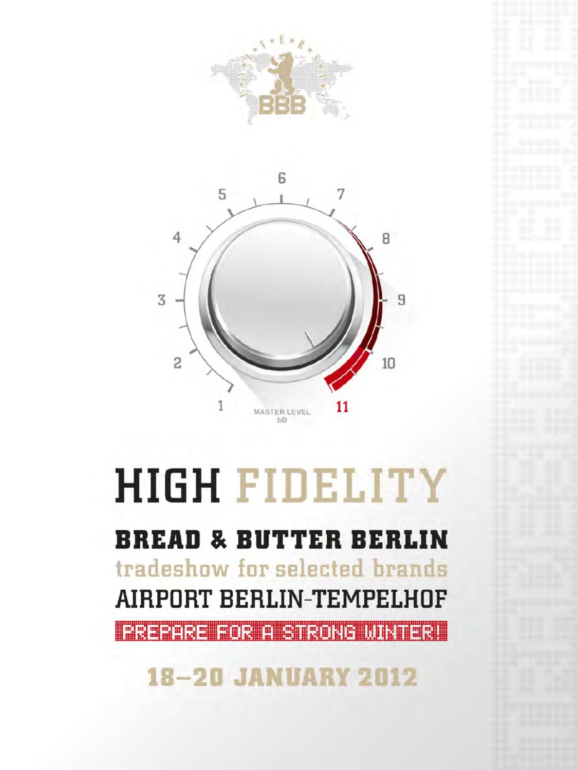 Tradeshow Guide High Fidelity by BREAD & butter GmbH & Co
