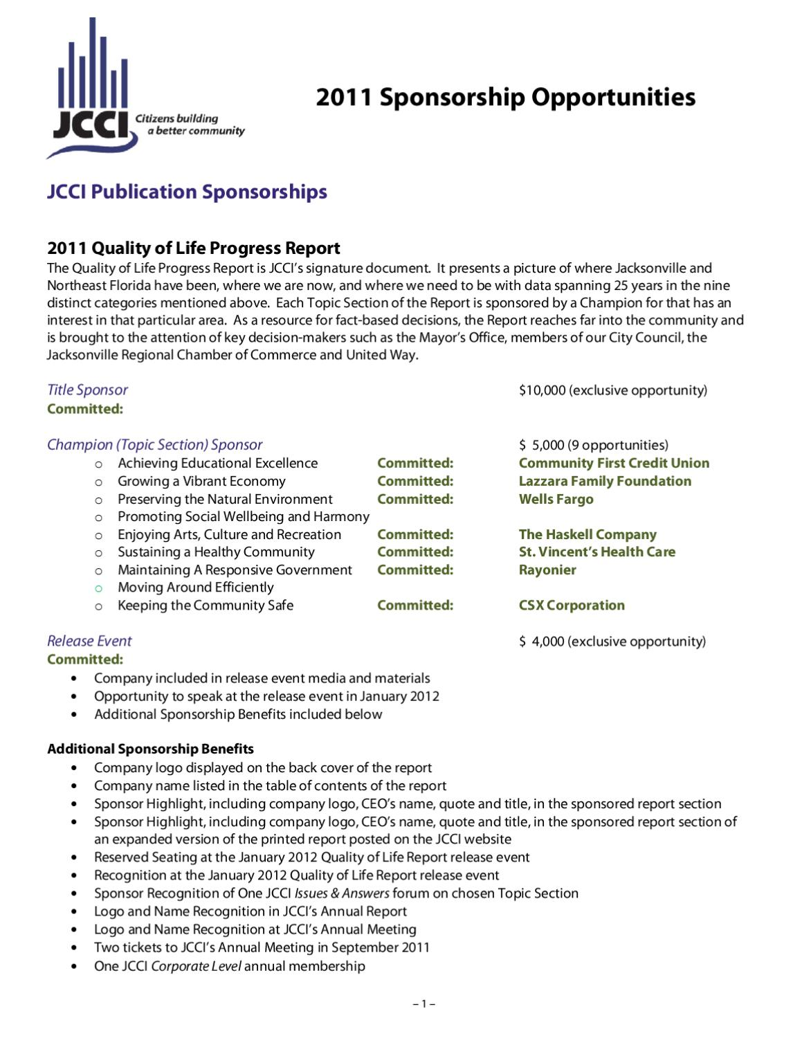 FWD Sponsorship Opportunities by JCCI - issuu