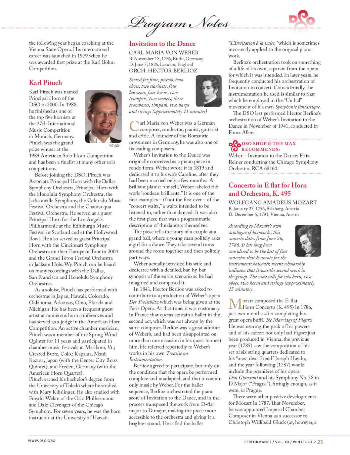 DSO Performance Magazine_winter1 by Detroit Symphony