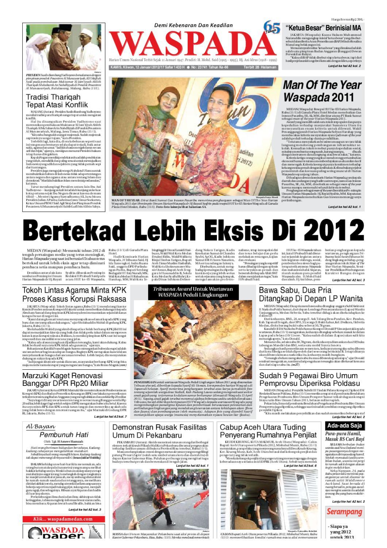 Waspada Kamis 12 Januari 2012 By Harian Issuu Gendongan Bayi Depan Mbg 6201 Free Ongkir Jabodetabek
